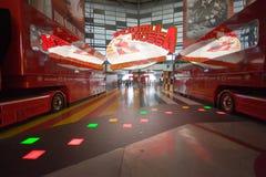 Inre av den Ferrari världen Royaltyfri Fotografi
