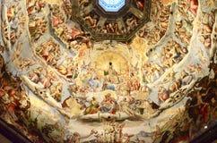 Inre av den Florence domkyrkan Arkivbild