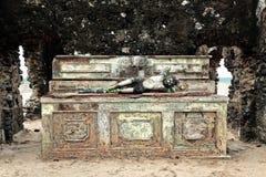 Inre av den gamla kyrkan på Dhanushkodi Royaltyfria Bilder