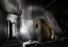 Inre av den gamla motorn Fotografering för Bildbyråer