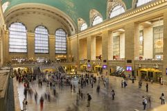 Inre av den Grand Central terminalen, Midtown, New York City Royaltyfria Foton