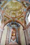 Inre av den helgonMaria kyrkan på Morcote Arkivbilder