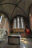 Inre av den helgonMary's kyrkan i Sigtuna Fotografering för Bildbyråer
