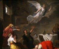 Inre av den helgonvincent kyrkan, Macon, Frankrike royaltyfri foto