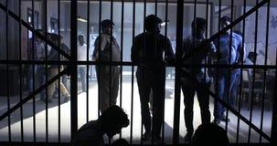 Inre av den indiska polisstationen stock video