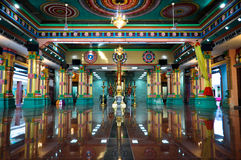 Inre av den indiska templet royaltyfri foto