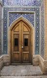 Inre av den Jameh moskén av Isfahan, Iran Lokal för Unesco-världsarv royaltyfria foton