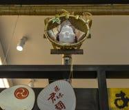 Inre av den japanska coffee shop royaltyfria foton
