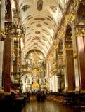 Inre av den Jasna Gora kloster i Czestochowa Royaltyfri Foto