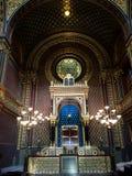 Inre av den judiska synagogan - Prague Royaltyfria Bilder