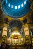 Inre av den Kazan domkyrkan, St Petersburg, Ryssland royaltyfria foton