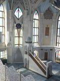 Inre av den Kul Sharif moskén Royaltyfri Bild