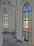 Inre av den Kul Sharif moskén Royaltyfria Foton