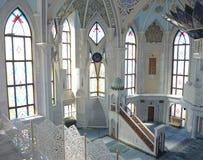 Inre av den Kul Sharif moskén i Kazan Royaltyfri Bild