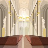 Inre av den kyrkliga eller katolska basilikan för domkyrka Royaltyfri Fotografi