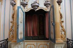 Inre av den ?ldsta synagogan i Frankrike, i Cavaillon, nu ett museum arkivbild