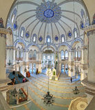 Inre av den lilla Hagiaen Sophia i Istanbul, Turkiet Arkivfoto