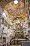 Inre av den Martorana kyrkan i Palermo Arkivfoton