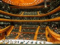 Inre av den moderna konserthallen i Katowice, Polen Royaltyfri Fotografi