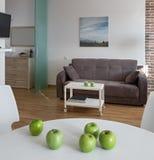 Inre av den moderna lägenheten i scandinavian stil arkivbilder