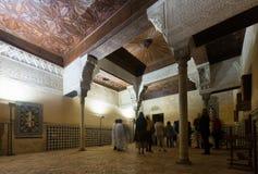 Inre av den Nasrid slotten, Alhambra Royaltyfri Fotografi