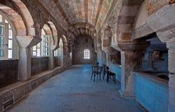 Inre av den 2nd nivån av Panagiaen Ekatontapyliani Royaltyfria Foton