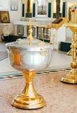 Inre av den ortodoxa kyrkan Arkivbilder