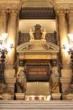 Inre av den Paris operan royaltyfria foton