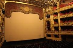 Inre av den Paris operan Fotografering för Bildbyråer