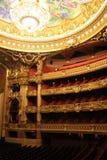 Inre av den Paris operan Arkivbild