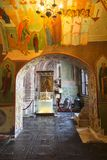 Inre av den Pokrovsky för domkyrka för St-basilika` s domkyrkan i den röda fyrkanten, Moskva Royaltyfria Foton