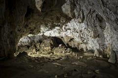 Inre av den Polovragi grottan, Rumänien Royaltyfria Foton