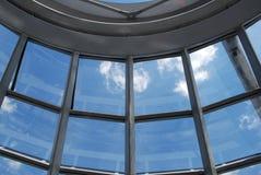 Inre av den Reichstag kupolen i Berlin arkivfoto