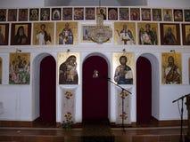 Inre av den Rmanj kloster arkivbild