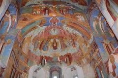Inre av den ryska ortodoxa domkyrkan Royaltyfria Foton
