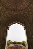 Inre av den Safdarjung gravvalvet i Delhi Royaltyfria Foton