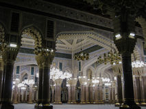 Inre av den Saleh moskén, Sanaa, Yemen arkivfoto