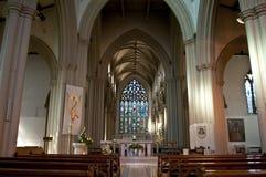 Inre av den Salford domkyrkan, större Manchester, UK royaltyfria foton