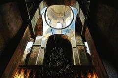 Inre av den Sanka Sophia Cathedral i Veliky Novgorod, Ryssland Arkivfoton