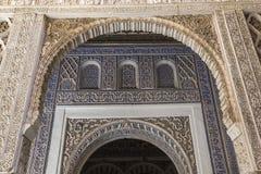 Inre av den Seville alcazaren, Seville, Andalusia, Spanien Royaltyfri Bild
