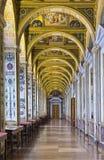 Inre av den statliga eremitboningen, en konstmuseum och kultur i St Petersburg, Ryssland arkivbilder