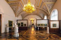 Inre av den statliga eremitboningen. St Petersburg arkivbilder