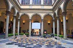 Inre av den Strozzi slotten Arkivbild