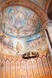 Inre av den Tibidabo kyrkan Expiatori del Sagrat Cor Arkivfoton