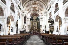 Inre av den tjeckiska kyrkan Fotografering för Bildbyråer