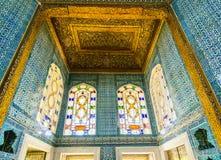 Inre av den Topkapi slotten Arkivbilder