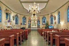 Inre av den tyska Christinae kyrkan i Göteborg, Sverige Royaltyfria Foton