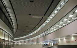 Inre av den Wien flygplatsen Arkivfoto