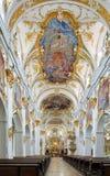 Inre av det gamla kapellet i Regensburg, Tyskland Royaltyfria Bilder