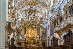 Inre av det gamla kapellet, Regensburg, Tyskland Arkivfoton